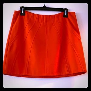 DVF orange mini skirt EUC